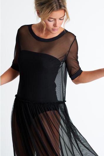 Long mesh dress