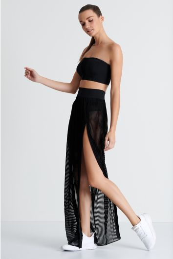 Long maxi cover-up skirt
