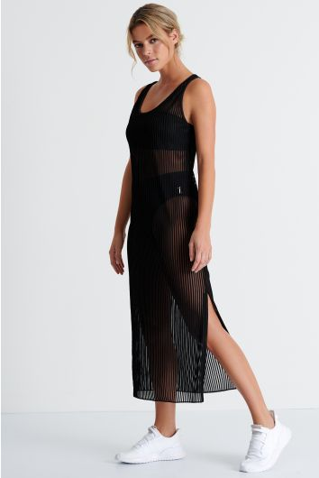 Long maxi cover-up dress