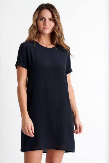 Classic silk short sleeve dress