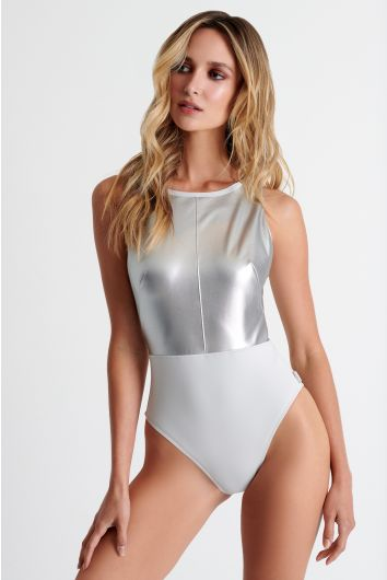 Fashion high neck swimsuit