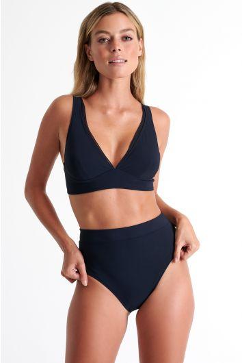 Bas de bikini classique taille haute