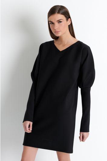Puffed sleeve dress