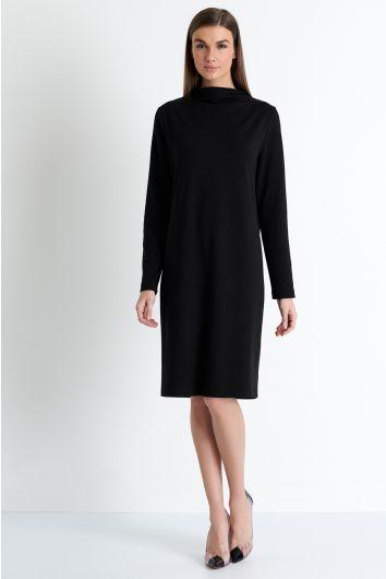 Mock neckline dress