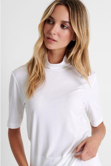 Short sleeve mock neck shirt