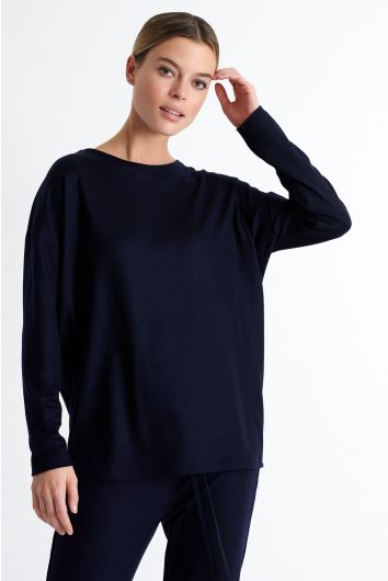 Long sleeve wool shirt