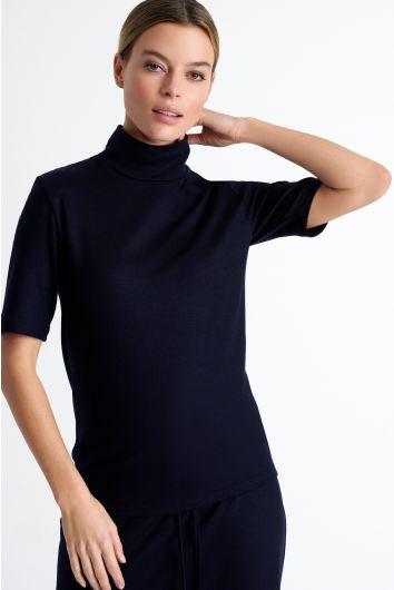 High neck wool shirt