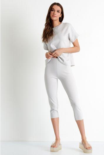 3D jersey Capri leggings