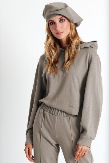 Puff sleeve hoodie