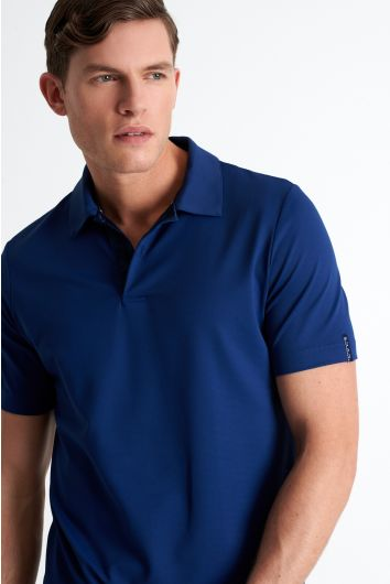 Texture jersey polo
