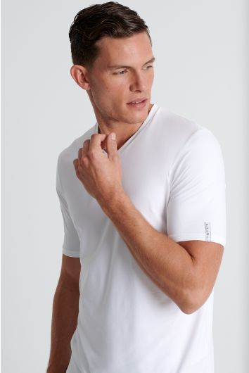 V neck microfiber t-shirt