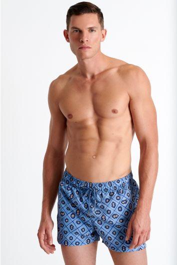 Short fit traditional swim trunks